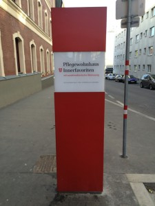 Werbepylon Wien